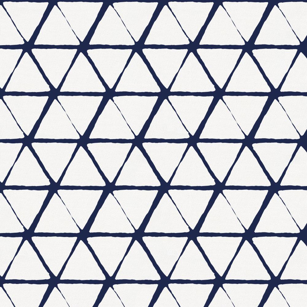 Product image for White and Navy Aztec Triangles Crib Skirt Single-Pleat
