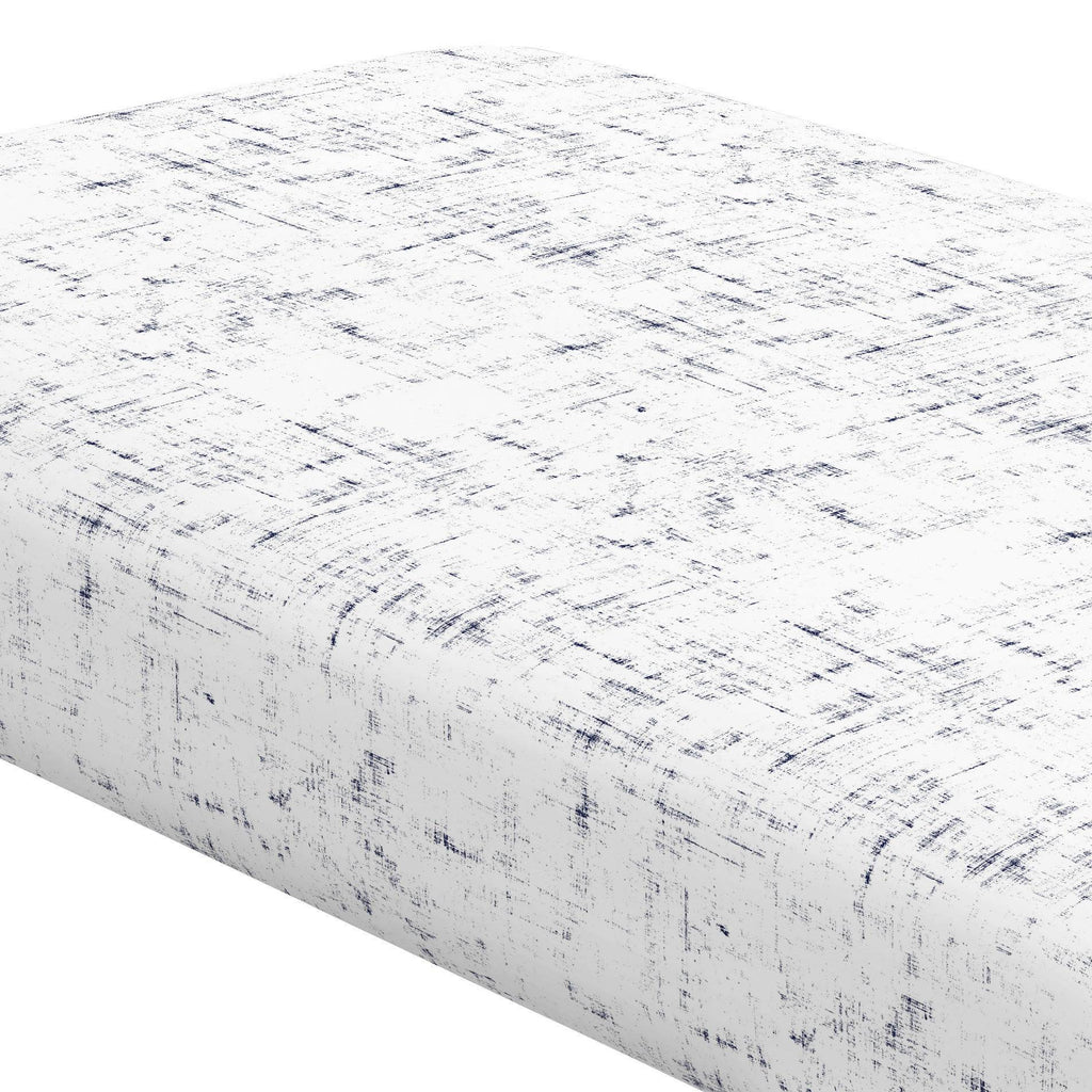 Product image for Navy Distressed Crib Sheet