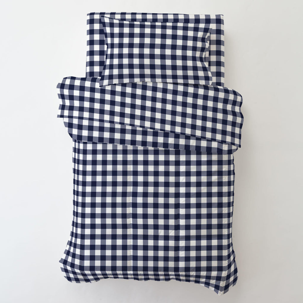 Product image for Windsor Navy Gingham Toddler Pillow Case