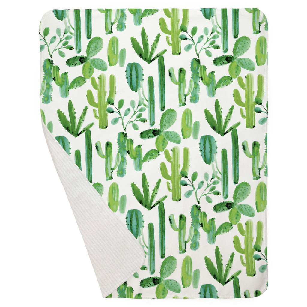 Product image for Green Painted Cactus Baby Blanket