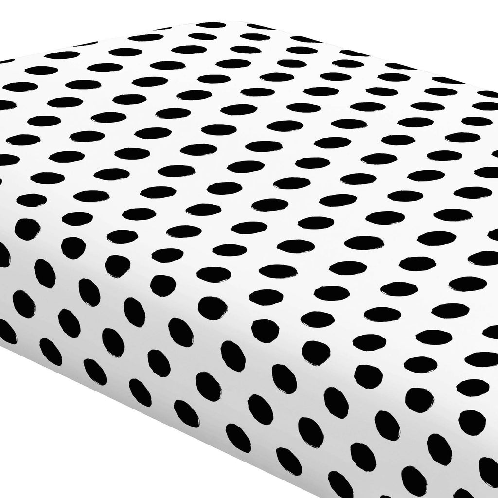 Product image for Onyx Brush Dots Crib Sheet