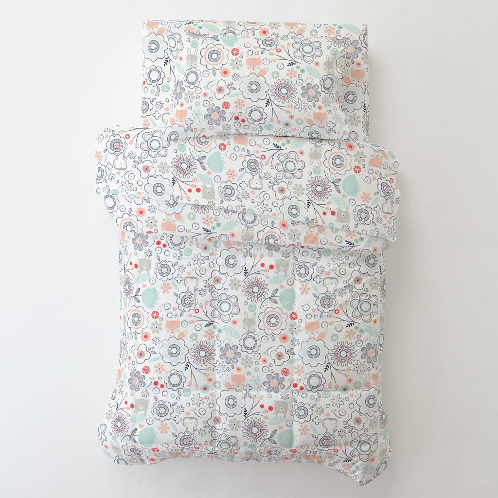 Product image for Coral Spring Doodles Toddler Sheet Bottom Fitted