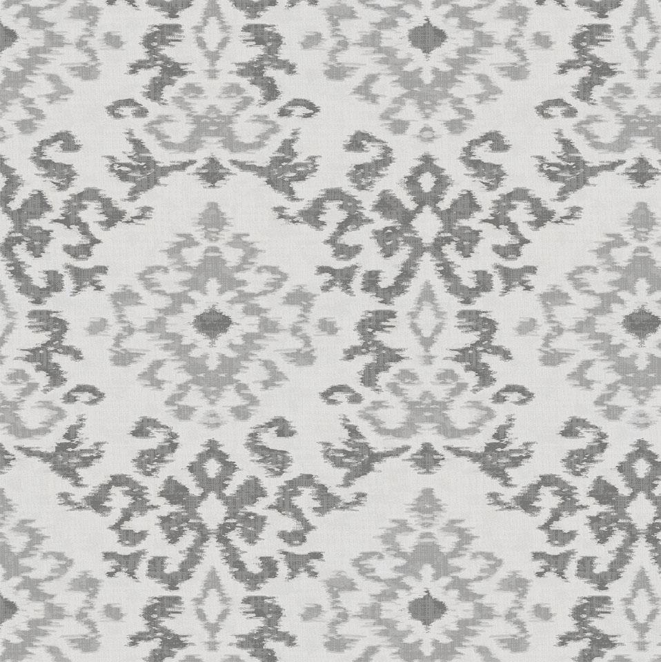Product image for Gray Ikat Damask Fabric
