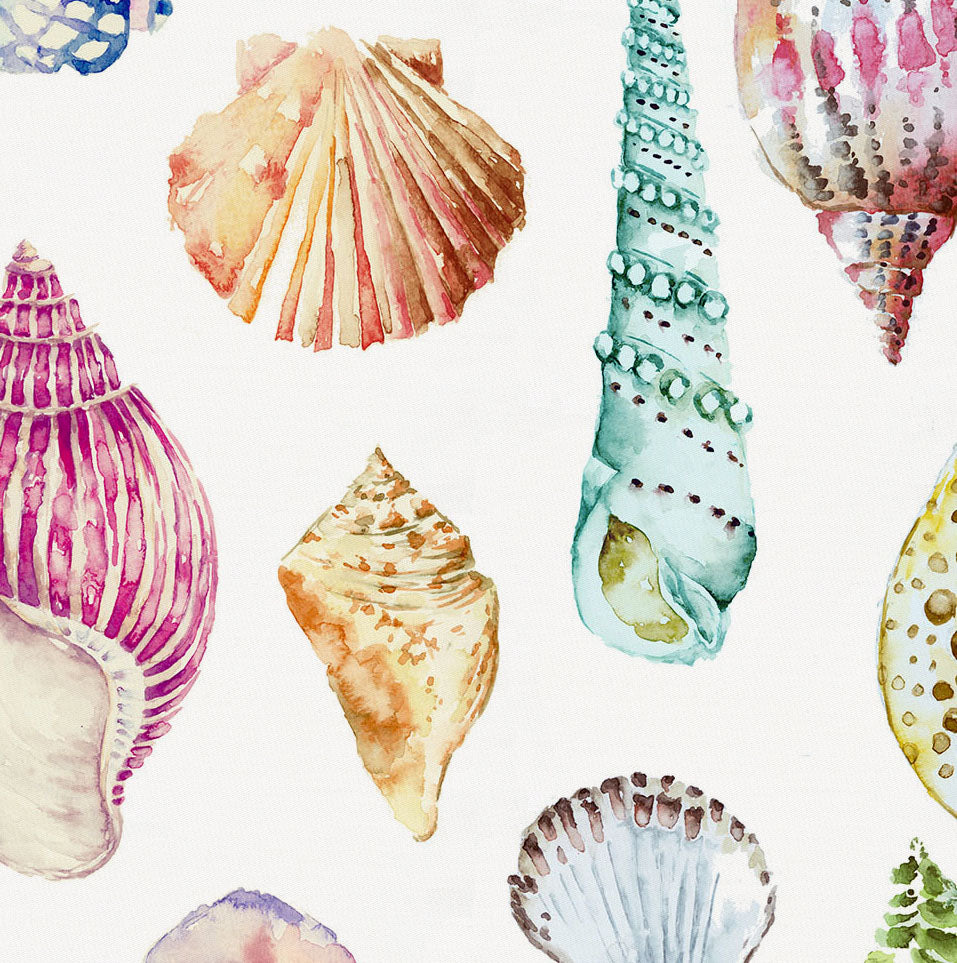 Product image for Watercolor Seashells Crib Skirt Gathered