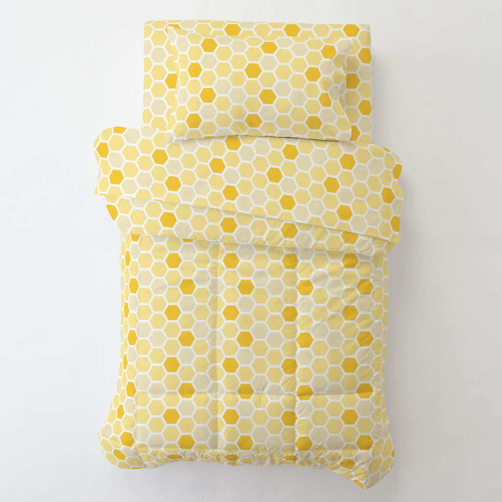 Product image for Yellow Honeycomb Toddler Sheet Bottom Fitted