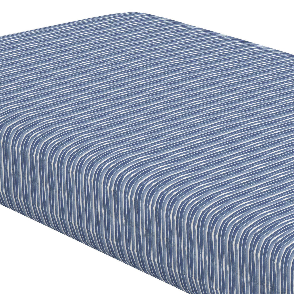 Product image for Blue Ocean Stripe Crib Sheet