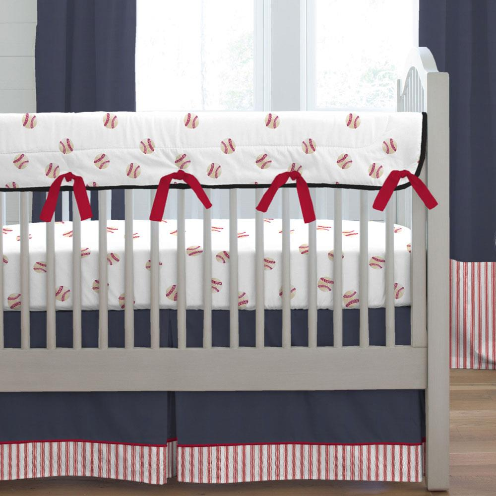 Product image for Watercolor Baseball Crib Rail Cover
