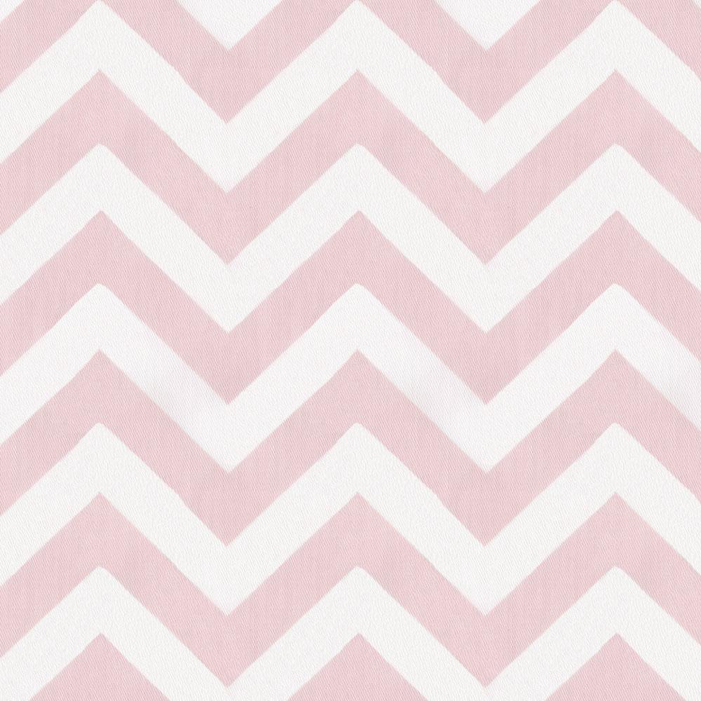 Product image for Pink Zig Zag Crib Skirt Gathered