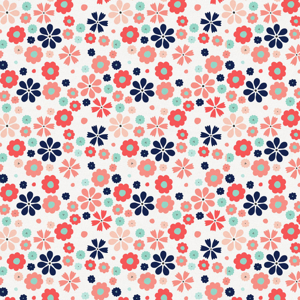 Product image for Coral Spring Flowers Toddler Comforter