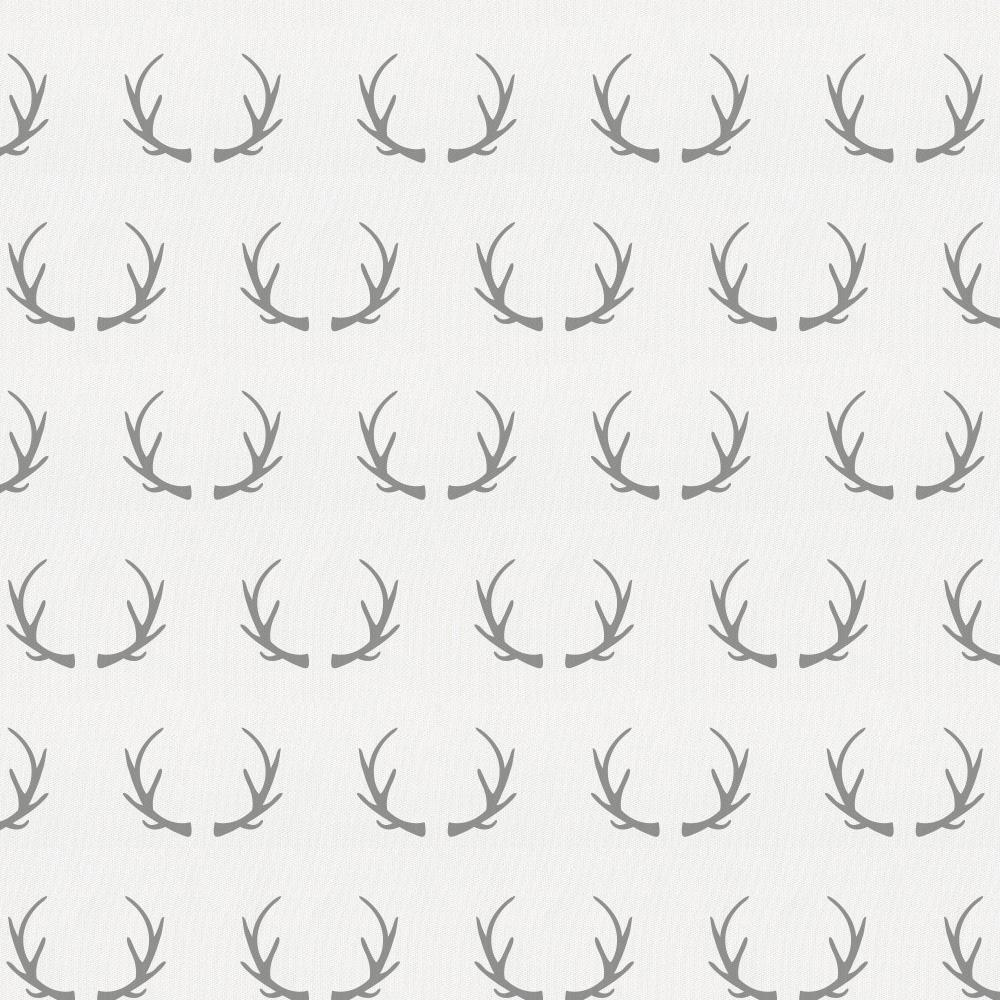 Product image for Silver Gray Antlers Crib Skirt Gathered