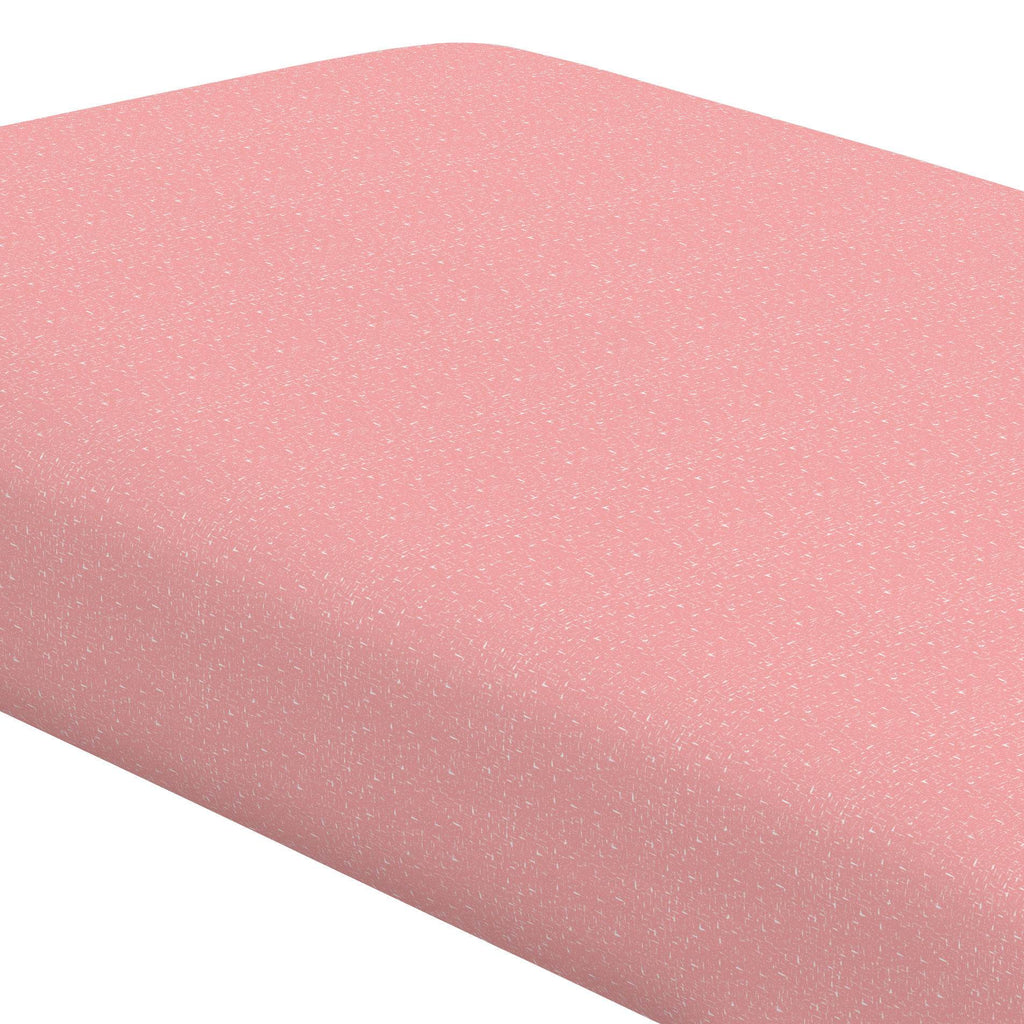 Product image for Coral Pink Heather Crib Sheet