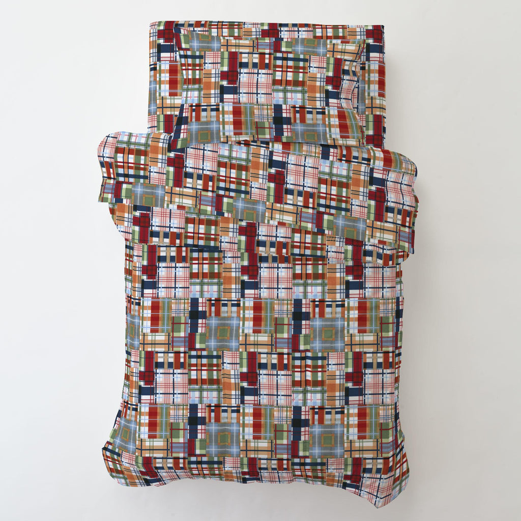 Product image for Patchwork Plaid Toddler Pillow Case