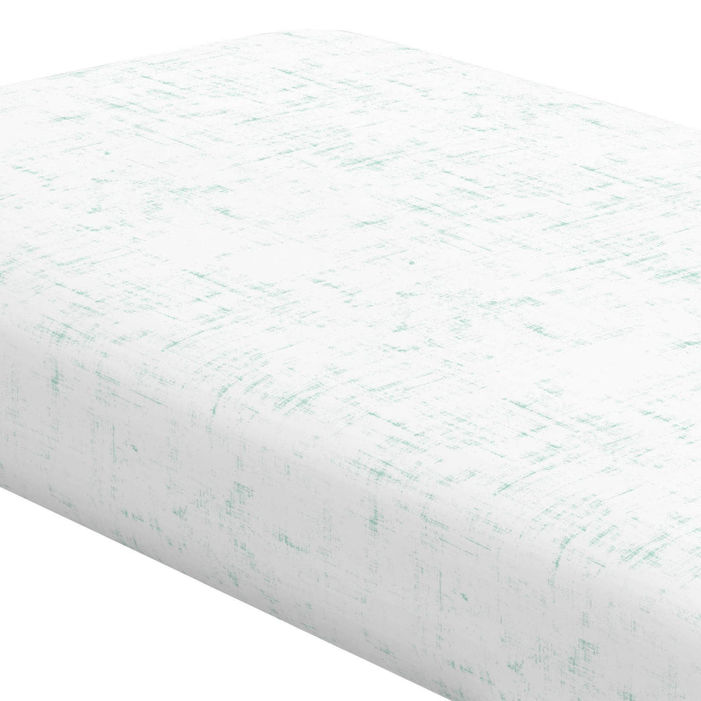Product image for Mint Distressed Crib Sheet