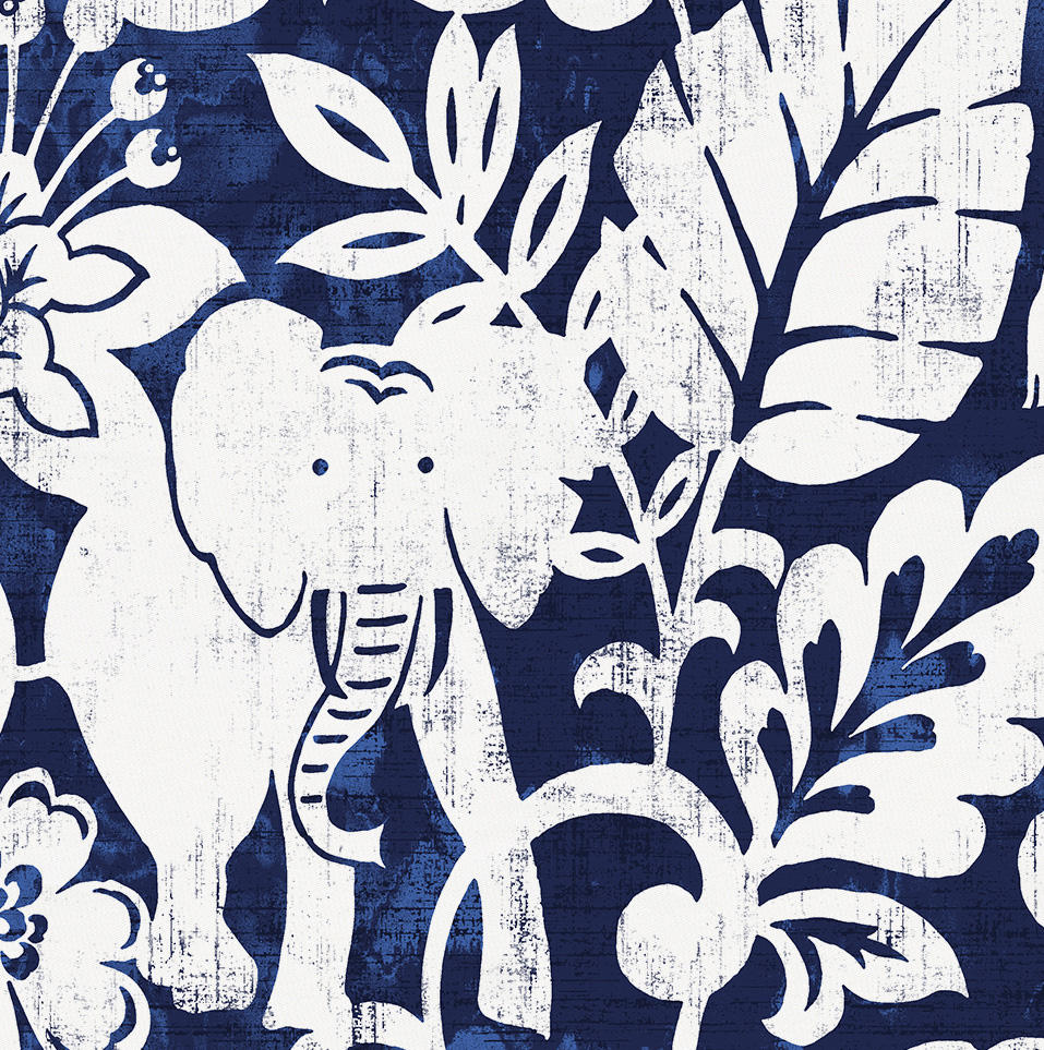 Product image for Navy and White Jungle Toddler Pillow Case with Pillow Insert