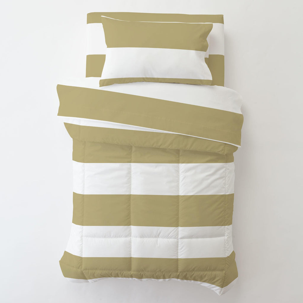 Product image for Tan Horizontal Stripe Toddler Pillow Case