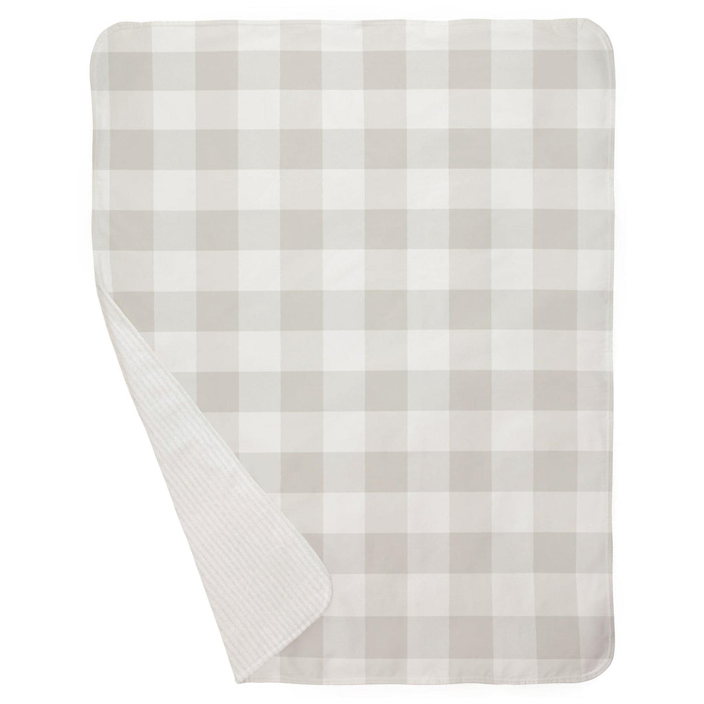 Product image for French Gray and White Buffalo Check Baby Blanket