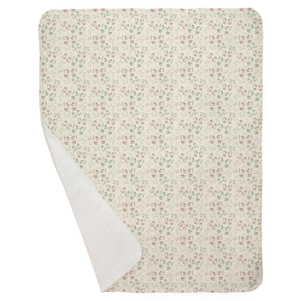 Product image for Blush and Ivory Butterfly Baby Blanket