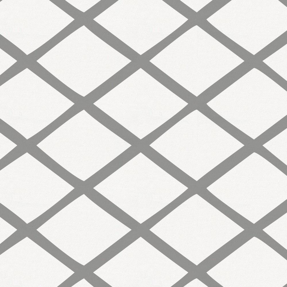 Product image for Cloud Gray Trellis Crib Skirt Gathered