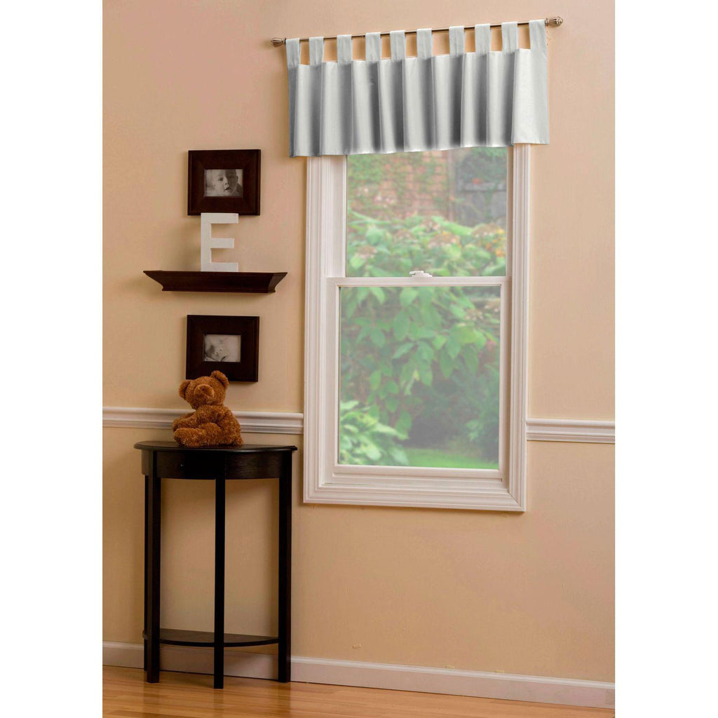 Product image for Solid Silver Gray Window Valance Tab-Top