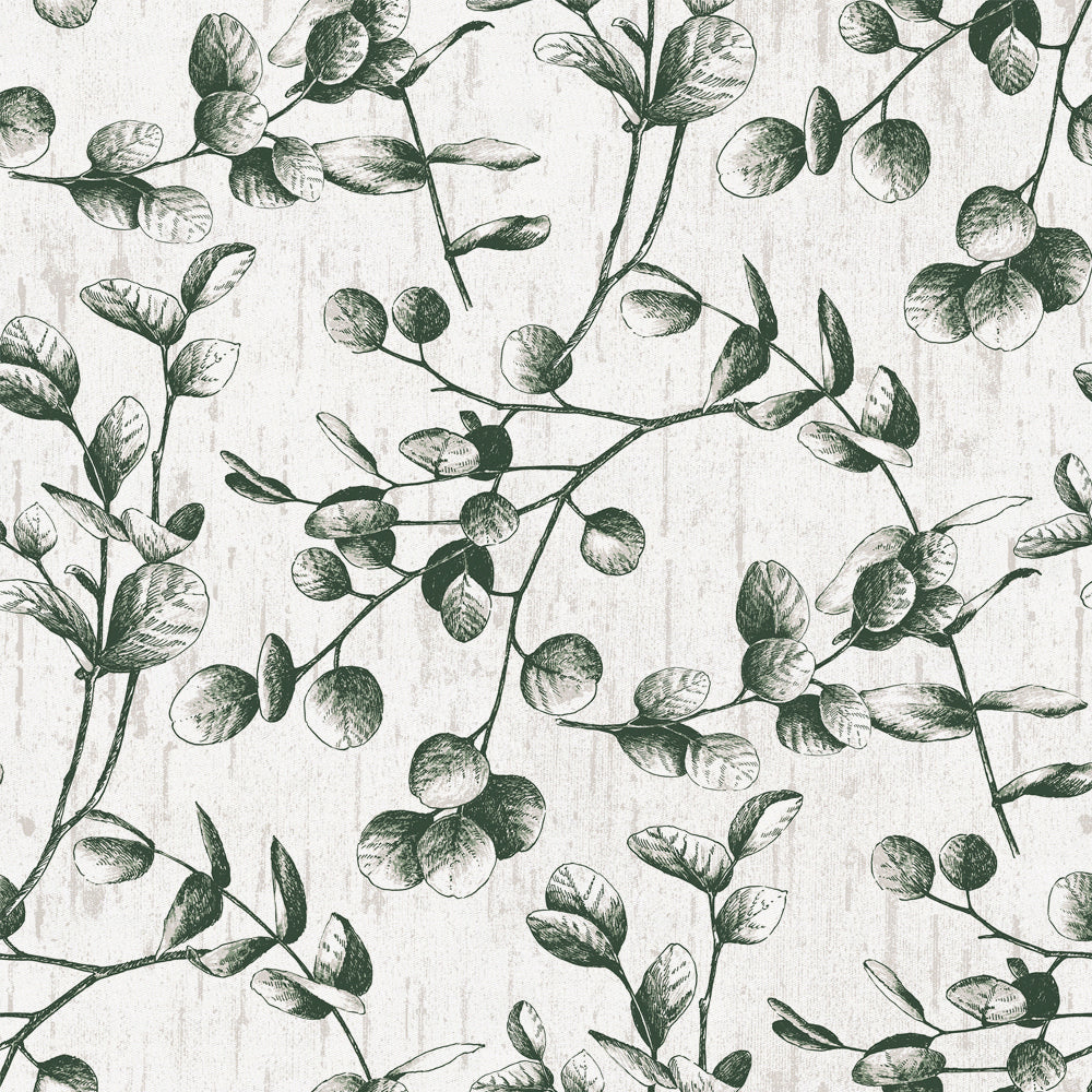 Product image for Dark Green Eucalyptus Fabric
