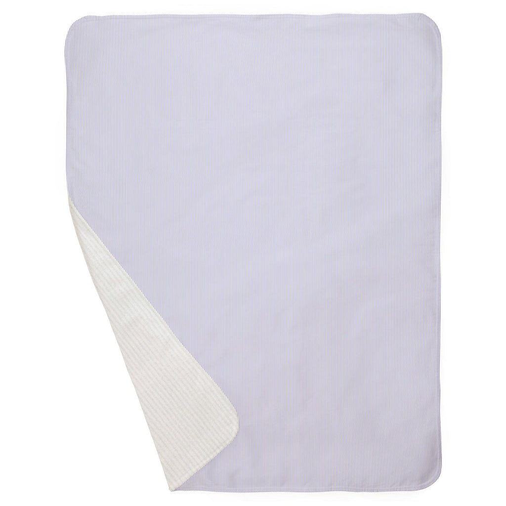 Product image for Lilac Mini Stripe Baby Blanket