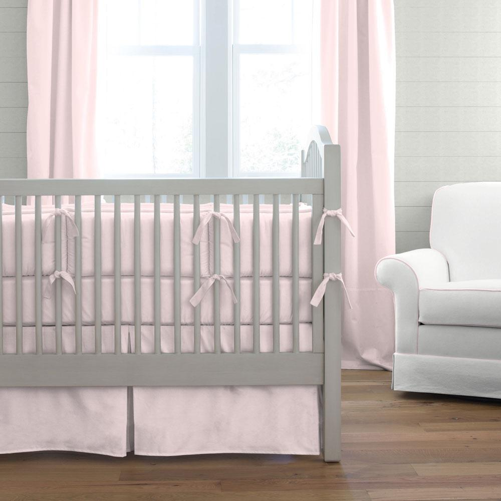 Product image for Solid Pink Crib Bumper