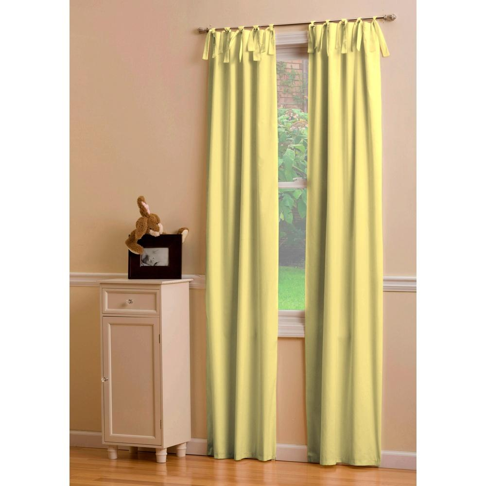 Product image for Solid Banana Drape Panel with Ties