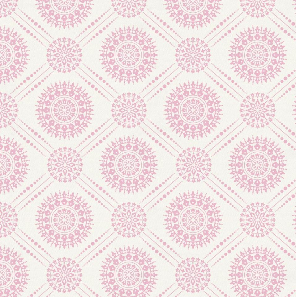 Product image for Bubblegum Pink Modern Medallion Fabric