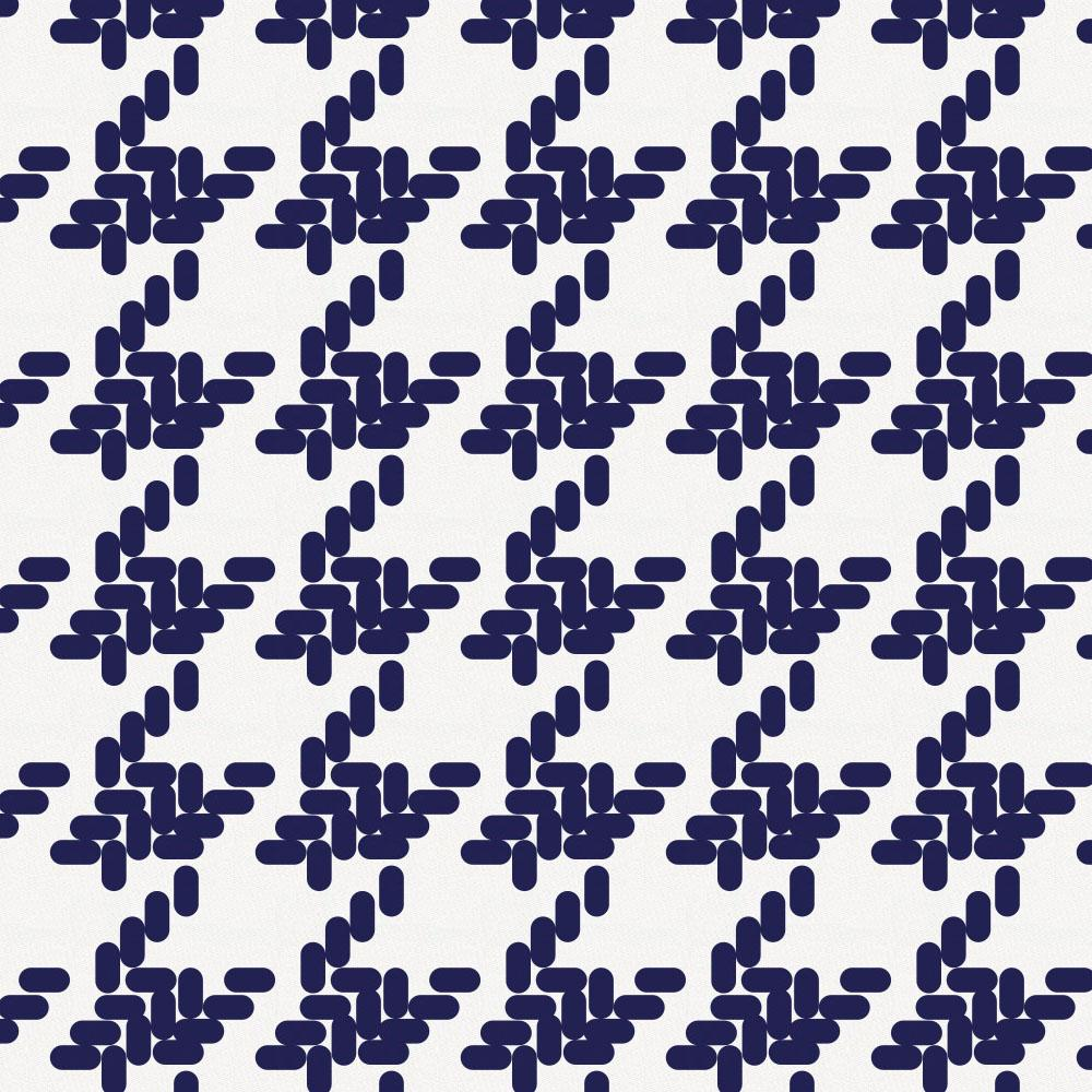 Product image for Windsor Navy Modern Houndstooth Changing Pad Cover