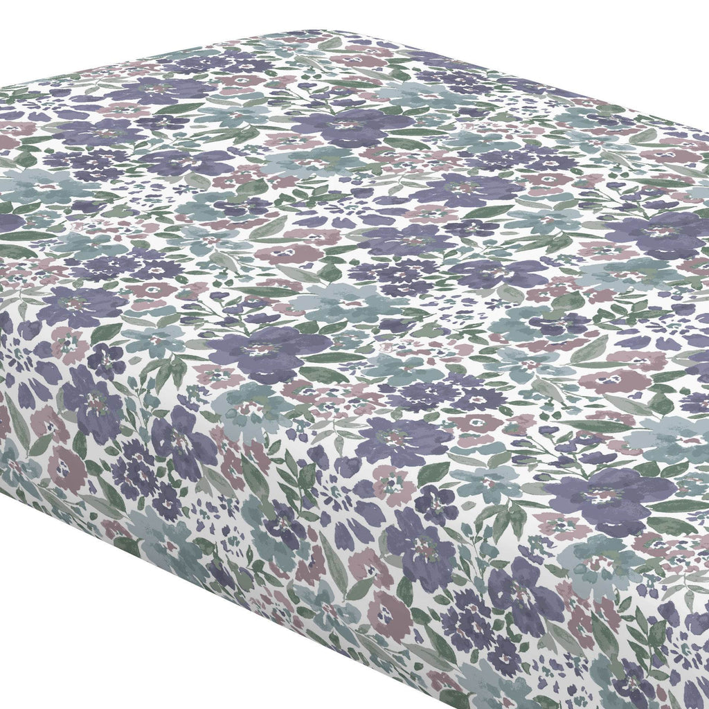 Product image for Purple Prairie Floral Crib Sheet