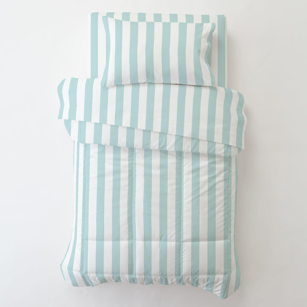 Product image for Mist Canopy Stripe Toddler Pillow Case