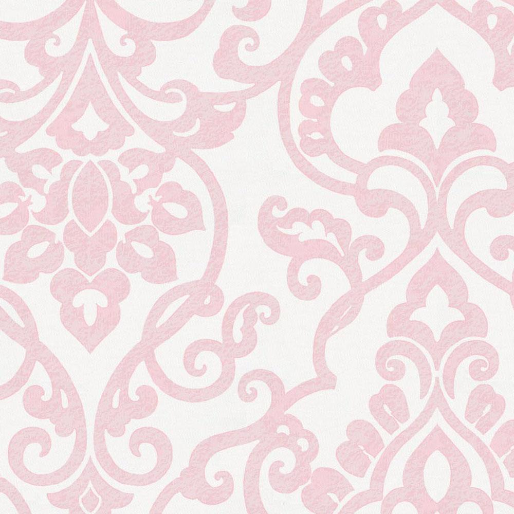 Product image for Pink Filigree Crib Comforter with Ruffle