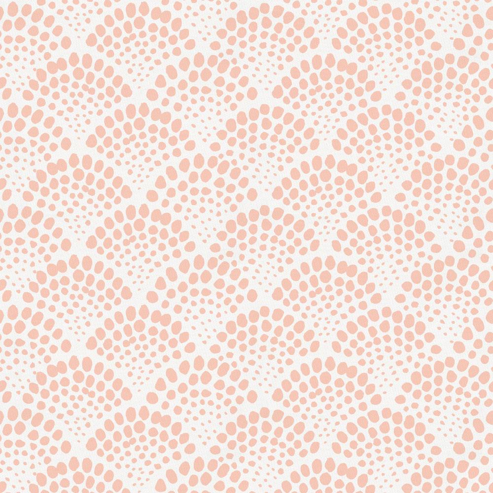 Product image for Peach Scallop Dot Mini Crib Sheet