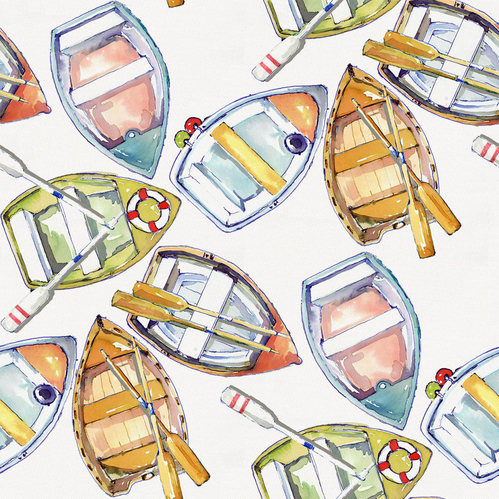 Product image for Watercolor Boats Fabric