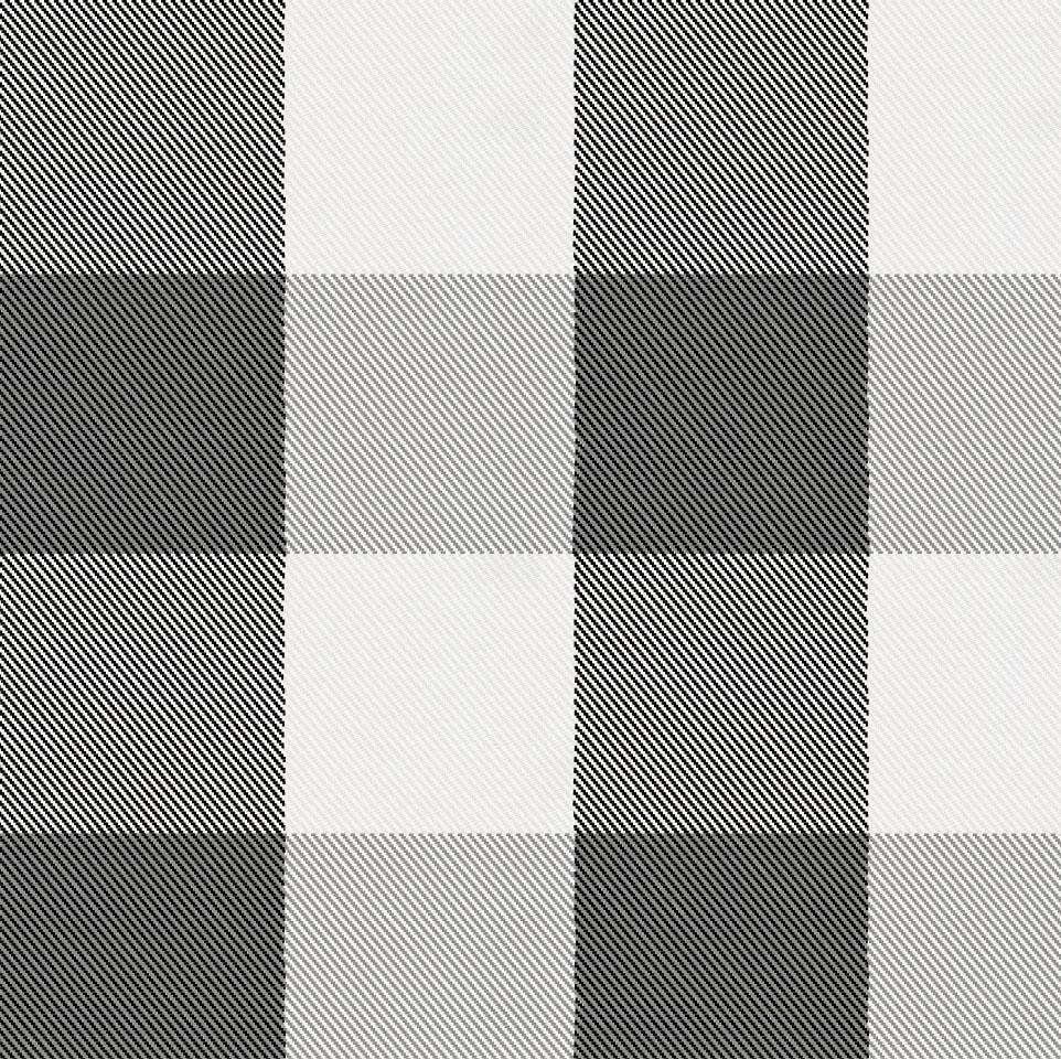 Product image for Onyx and Cloud Gray Buffalo Check Mini Crib Sheet