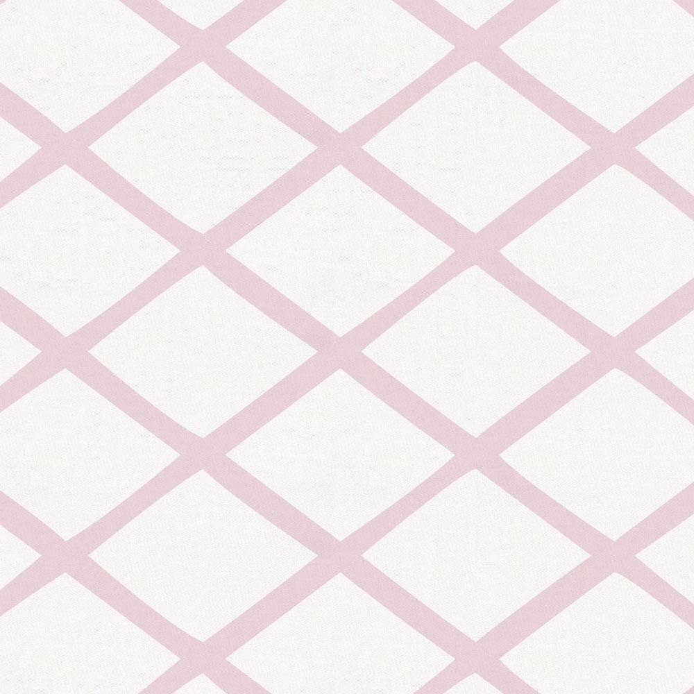 Product image for Pink Trellis Crib Skirt Gathered
