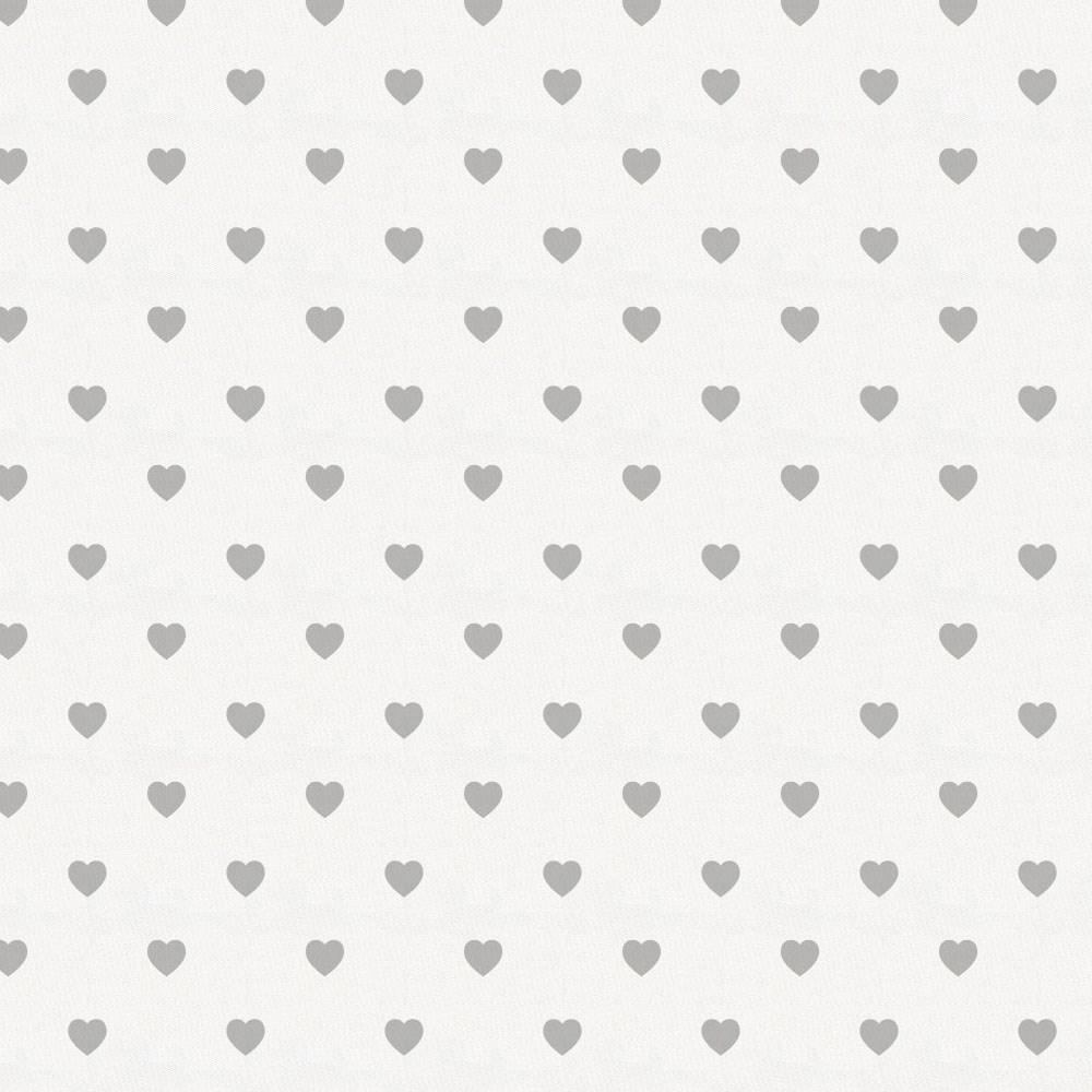 Product image for Gray Hearts Crib Skirt Single-Pleat