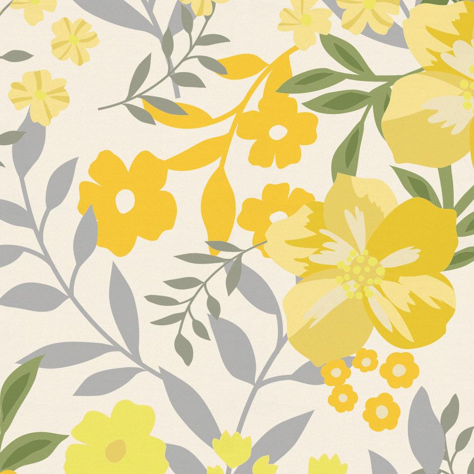 Product image for Yellow Floral Tropic Changing Pad Cover