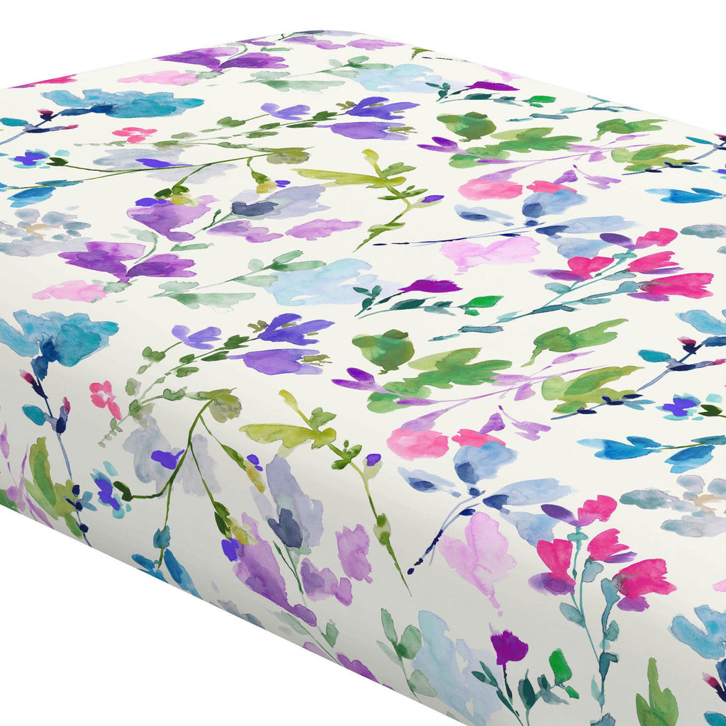 Product image for Bright Wildflower Crib Sheet