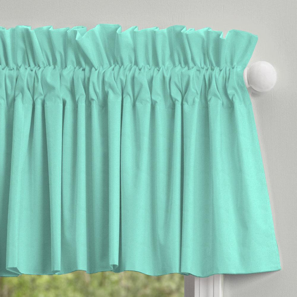 Product image for Solid Teal Window Valance