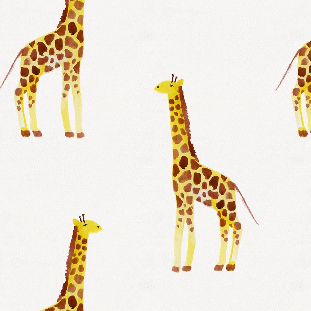 Product image for Painted Giraffe Crib Skirt Gathered