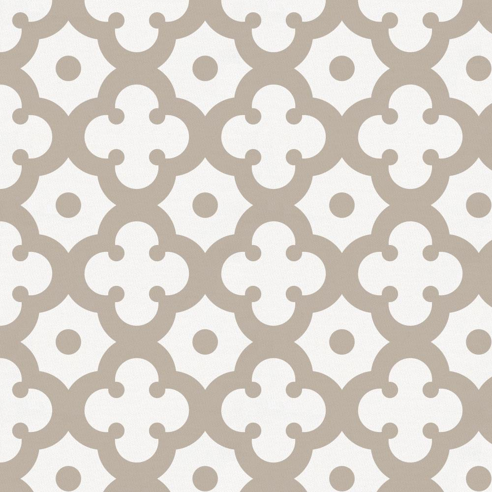 Product image for Taupe Moroccan Tile Crib Skirt Single-Pleat