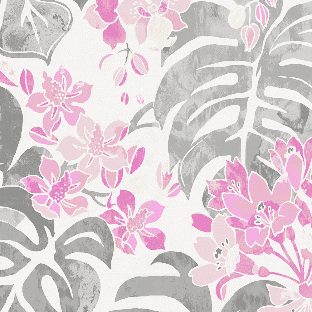Product image for Pink and Gray Tropical Changing Pad Cover