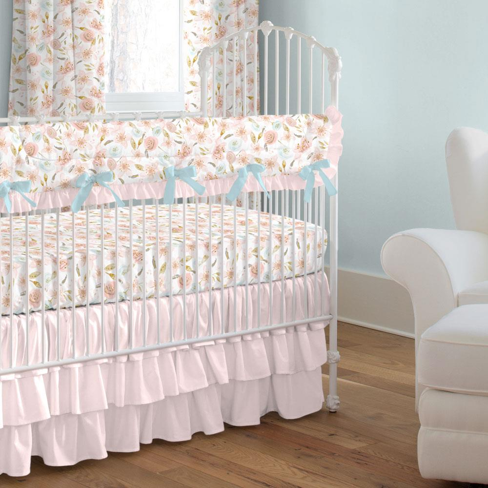 Product image for Pink Hawaiian Floral Crib Rail Cover