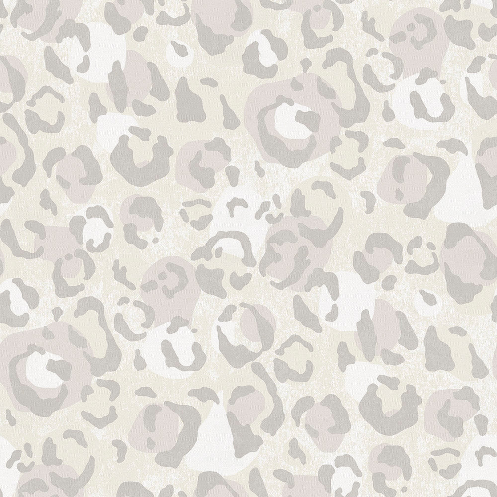 Product image for French Gray Leopard Crib Skirt Gathered