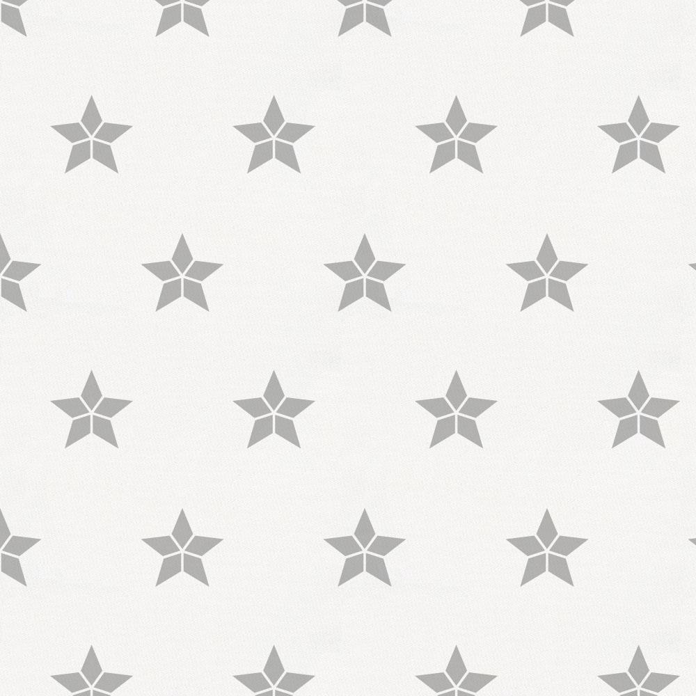 Product image for Silver Gray Mosaic Stars Toddler Pillow Case with Pillow Insert