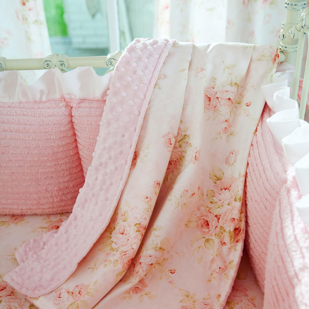 Product image for Pink Floral Baby Blanket