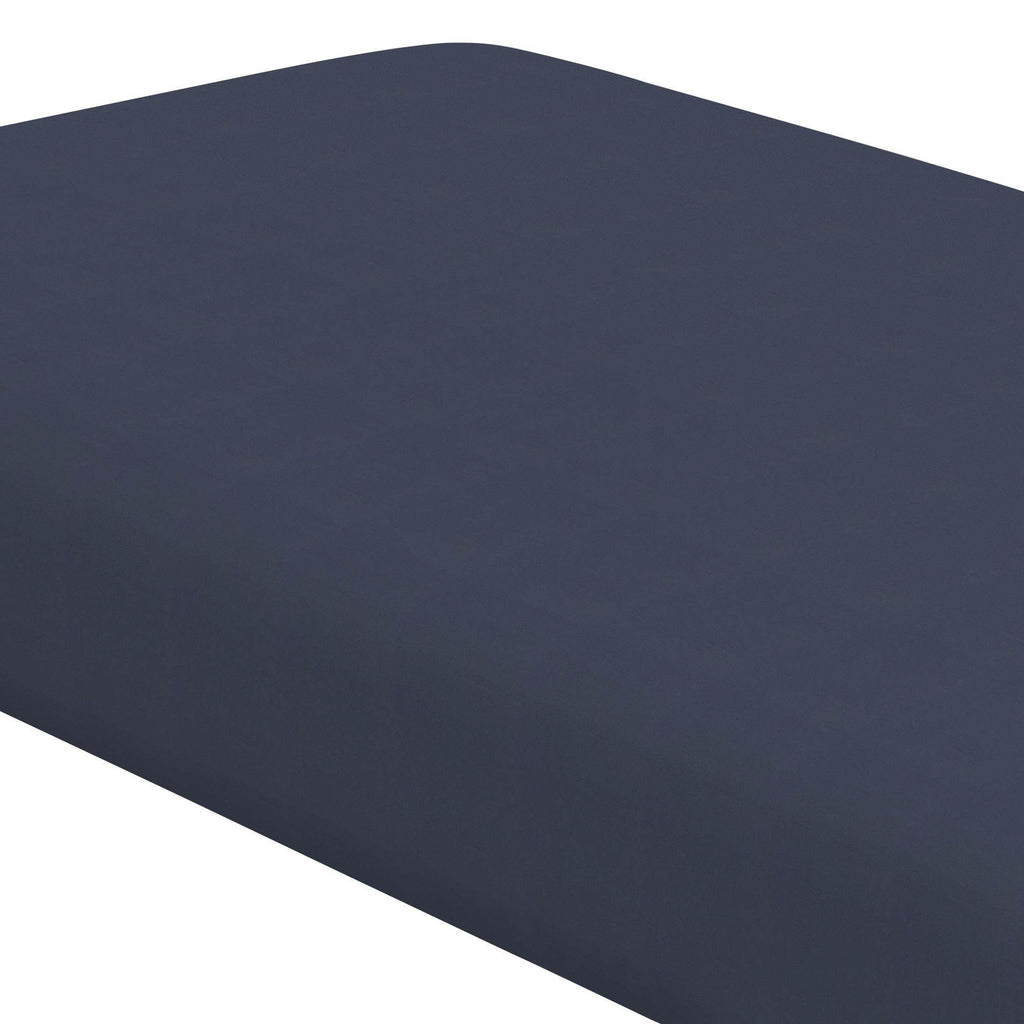 Product image for Solid Navy Crib Sheet