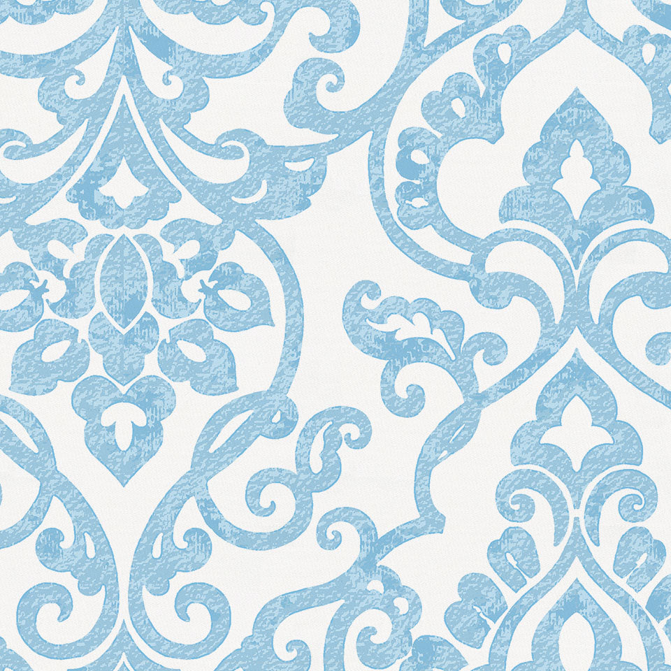 Product image for Blue Filigree Crib Skirt Gathered