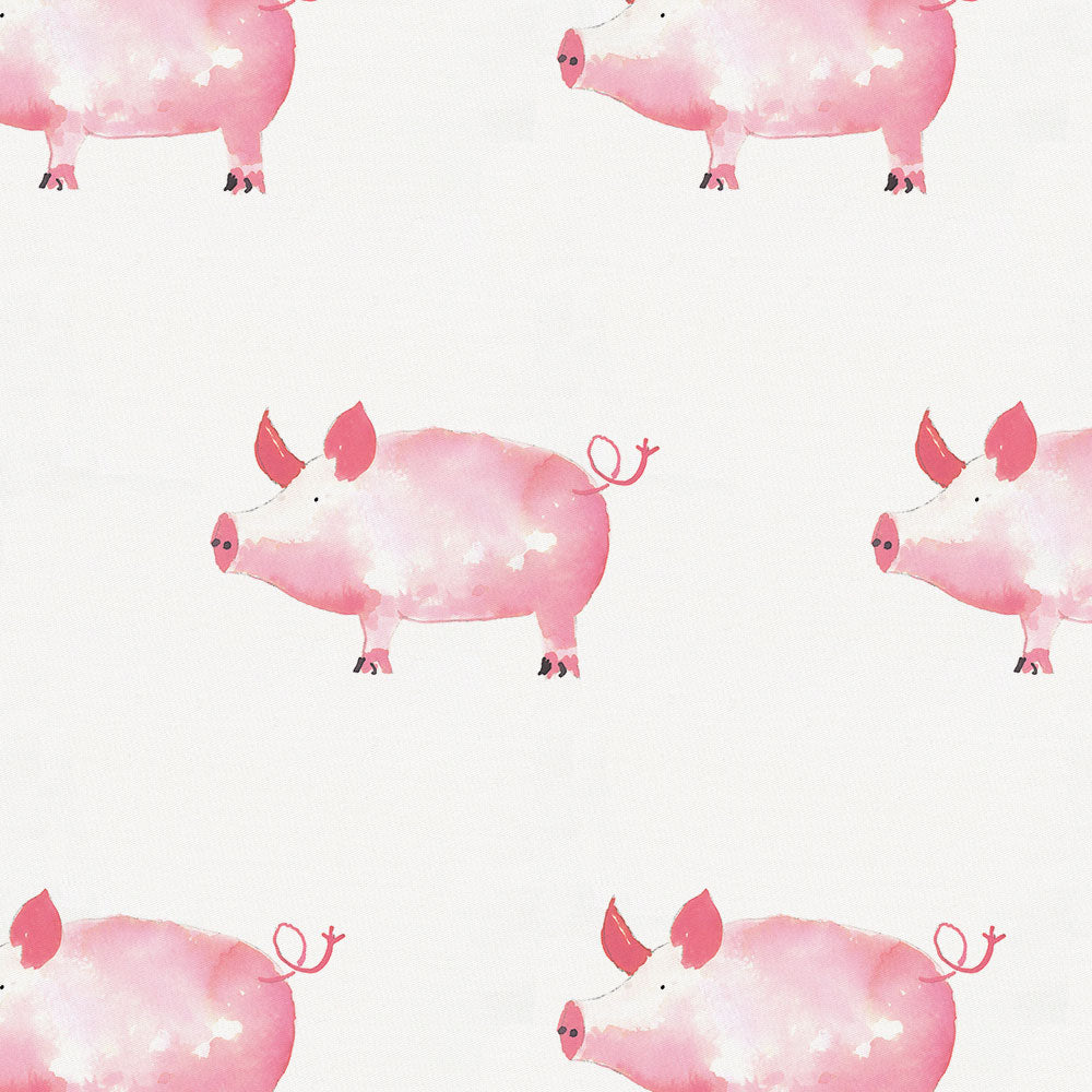 Product image for Pink Painted Pigs Crib Skirt Single-Pleat